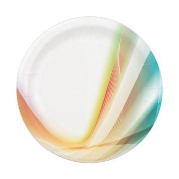Abstract Swirl 2 Paper Plate