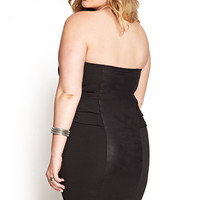 Plus Size Sheeny Mineral Wash Dress | Forever 21 PLUS - 2000179357