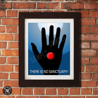 There is No Sanctuary - Logans Run Poster - No Face, Faceless Print - Sizes 8X10 16X20 - Wall Art