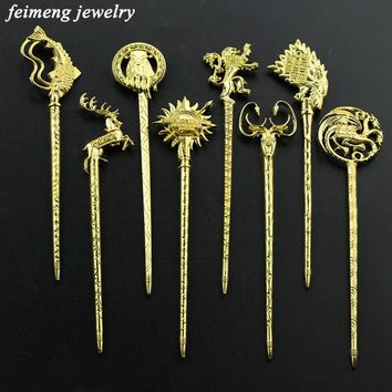 16 Size Game of Thrones Tradition Chinese Hair Stick Handmade Vintage HairPin Women jewelry Chinese stick Gift Hair Accessories