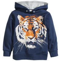 H&M - Hooded Sweathirt with Design - Dark blue - Kids