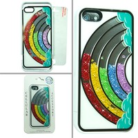 iPhone 5 Over The Rainbow Loose Glitter Crystals Phone Case