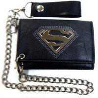 Superman: S Shield Logo Wallet with Chain