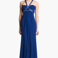 Hailey Logan Embellished Harness Gown (Juniors) (Online Exclusive) | Nordstrom