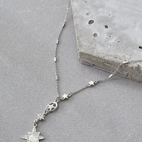 AEO Star Single Chain Necklace, Silver