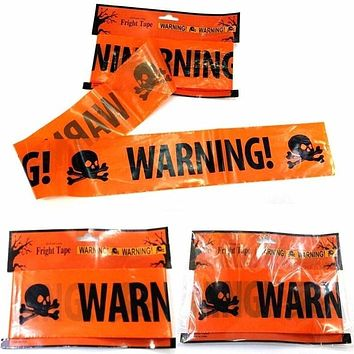 Walking Dead Warning Caution Tape Halloween Party Prop Decor