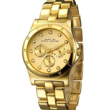 Mj Marc By Marc Jacobs Passion Deep Feelingshiny Fashion Watch L Ps Xsdzbsh Gold