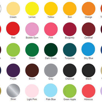 "Siser EasyWeed HEAT TRANSFER vinyl sheet 15""x12"" solid colors"