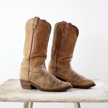 Shop Tony Lama Vintage Cowboy Boots on Wanelo