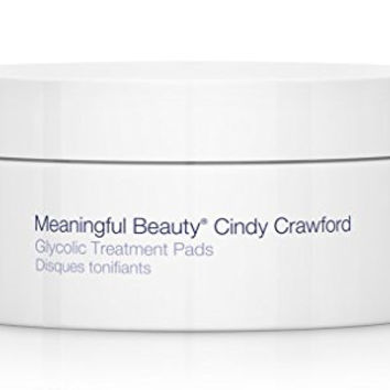 Meaningful Beauty by Cindy Crawford – Glycolic Treatment Pads – Helps Minimize the Look of Pores – Gently Removes Pore-Clogging Debris – 30 Count – MT.0378