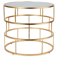 Ladder Side Table, GoldWORLDS AWAY