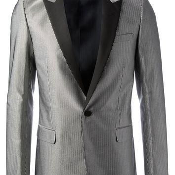 Saint Laurent Striped Tuxedo Blazer