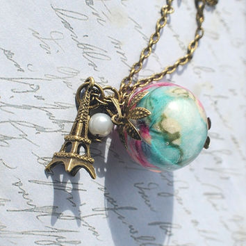 Shabby Chic Style Necklace 01  Resin by NaturalPrettyThings