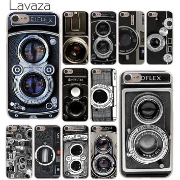 Lavaza Old style Vintage Camera Phone Hard Cover Case for Apple iPhone 10 X 8 7 6 6s Plus 5 5S SE 5C 4 4S Coque Shell  Cover