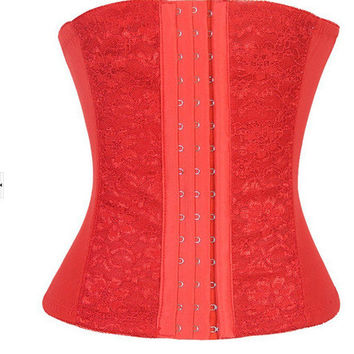 Waist Shaper Sexy Body Lace Slim Corset [4965329348]