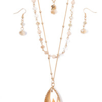 Tri-Layer Jeweled Necklace Set