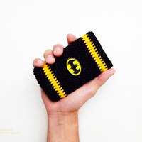 Batman iPhone 5 Case. Crochet phone case, Crochet Phone Sleeve,Cute Cartoon Super Hero Soft Back Case Cover For iPhone