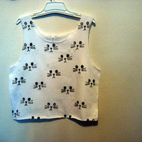 kitty cat crop shirt