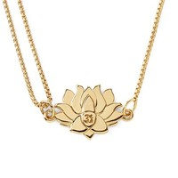Women's Alex and Ani 'Providence' Pull Chain Lotus Pendant Necklace