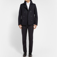 Lanvin - Raw-Edged Wool-Blend Peacoat | MR PORTER