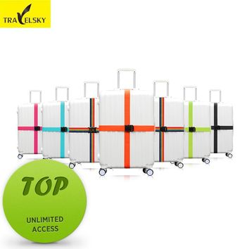 Travel cross straps Strong Nylon available size 20 to 34 inches suitcase 7 colors choice 1 pcs  free shipping hot sale 13016