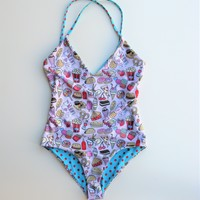 Valfre x Lolli Lunchtime One Piece Reversible Swimsuit XS NWOT