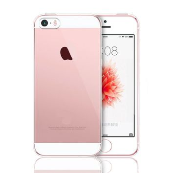 Case Cover For iPhone X 5 5s SE 6 6S 7 8 Plus Slim Soft Crystal Clear Transparent TPU Silicone Cover Case Fundas Coque