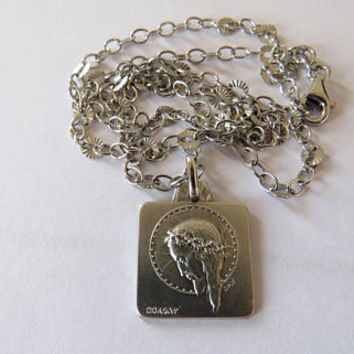 Vintage French, Christ, Pendant, Silver, Dorgay, SHIPPING INCLUDED