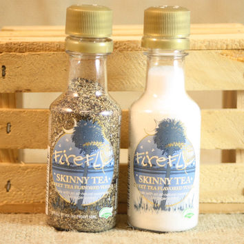 Salt & Pepper Shakers Upcycled from Firefly Skinny Tea Vodka Mini Liquor Bottles, Mini Liquor Bottle Shaker Set