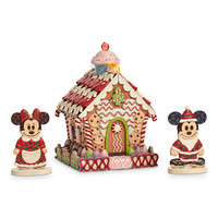 Mickey and Minnie Mouse ''Home Sweet Home'' Light-Up Gingerbread House by Jim Shore