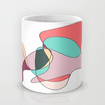 Abstract 1 (white) Mug by DuckyB (Brandi)