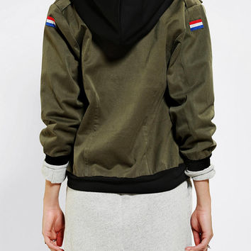 Urban Renewal Hooded Army Bomber Jacket