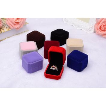 Fashion Velvet Engagement Wedding Earring Ring Pendant Jewelry Display Box Gift Super Present