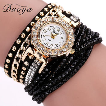 Fashion Crystal Rhinestone Bracelet Watch - 20 Colors