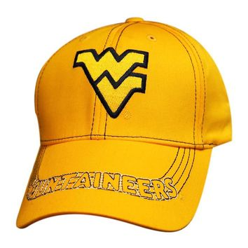 West Virginia Mountaineers Logo Cap Structured Adjustable Hat