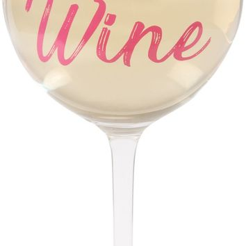 Working nine to wine Crystal Wine Glass
