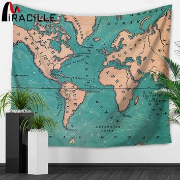 Miracille World Map Indian Tapestry Hippie Wall Hanging Tapestries Boho Bedspread Beach Towel Yoga Mat Blanket Table Cloth Day-F
