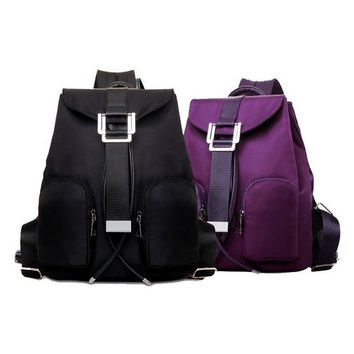 European and American Style Daily Backpack Softback Shoulder Bags Ribbons Soft Handle Women Backpack = 1740595716