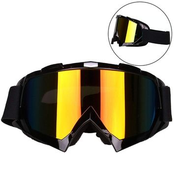 Windproof Motorcycle Goggles Dirt Bike Goggles Dustproof Scratch Resistant Ski Goggles Protective Safety Glasses