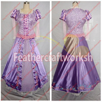 Tangled Rapunzel Cosplay Costume Tangled Rapunzel Dress Embroidery Flowers Rapunzel Costume