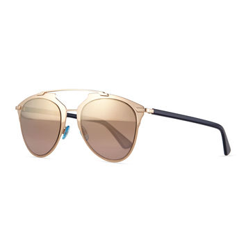 Peaked Aviator Sunglasses, Copper - Dior