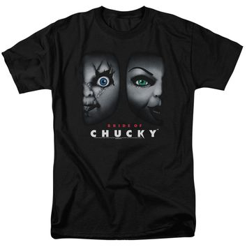 Bride Of Chucky - Happy Couple Short Sleeve Adult 18/1