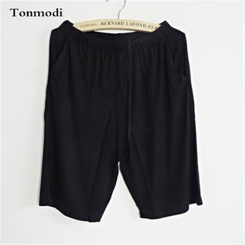 Pajamas Pants Women Summer Shorts Men Modal Shorts Thin Solid Women's Beach Pants Lounge Couple Sleep Bottoms