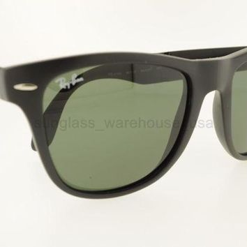 Kalete RAY-BAN RB 4105 601S 50MM MATTE BLACK FRAME CRYSTAL GREEN LENSES SUNGLASSES