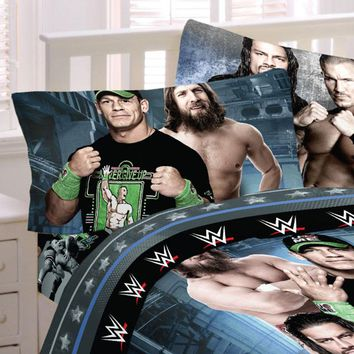 WWE Bed Sheets Industrial Strength Wrestling Bedding