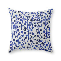 Society6 Porcelain Ivy Throw Pillow