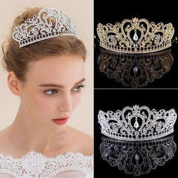 ESBG8W 2017 Hot Sale Chic Women Hair Tiaras Metal Rhinestone Head Chain Jewelry Wedding Headband Head Piece Hair band Accessories