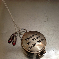 Wizard of Oz There's No Place Like Home Compass Necklace