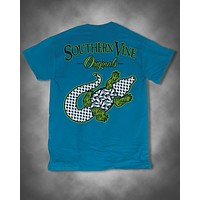 Southern Vine Originals Preppy Gator Alligator Pattern Unisex Bright T-Shirt
