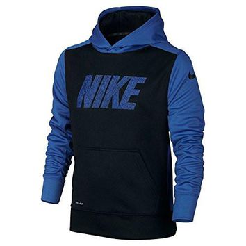Nike Boys 8-18 Youth Therma-Fit Fleece Pullover Hoodie Athletic shirt (L 14)